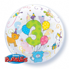 Age 3 Cuddly Pets Bubble Balloon